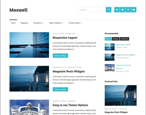 Template WordPress Gratis Maxwell