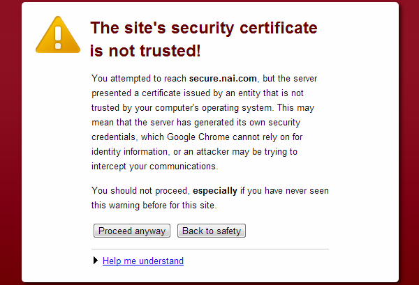 Certificate Error - Jenis-jenis browser error