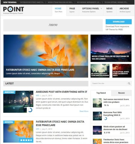 Template WordPress Gratis POINT, Full SEO dan Responsive Terpopuler