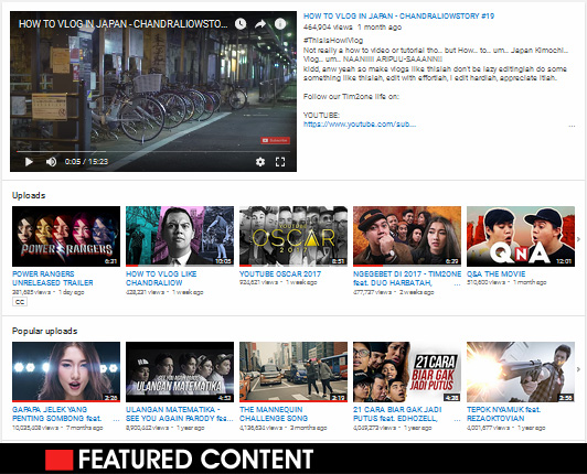 Featured Content - Bagian Channel Branding Youtube Penting