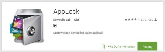 applock - Aplikasi Android Terunik Terbaru