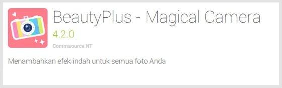 beautyplus - Aplikasi Android Terunik Terbaru