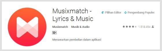 musixmatch - Aplikasi Android Terunik Terbaru