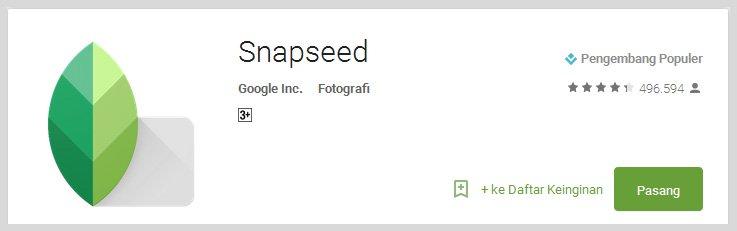 snapseed - Aplikasi Android Terunik Terbaru