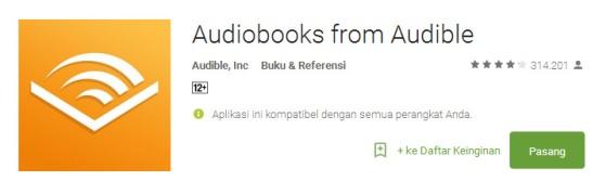 audible-for-android - Aplikasi Terbaik Untuk Membaca e-Book di Smartphone