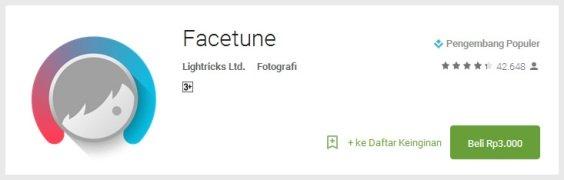 facetune - Aplikasi Wajib untuk Para Pecinta Selfie