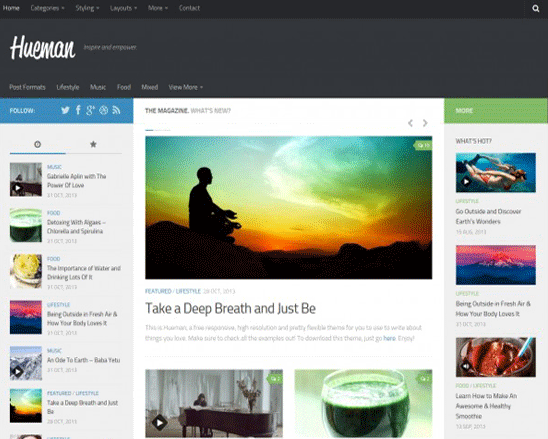 Template WordPress Gratis Hueman