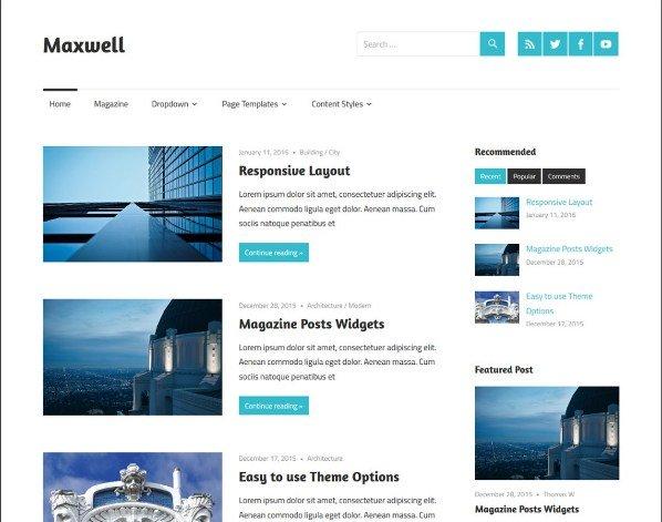 Template WordPress Gratis Maxwell