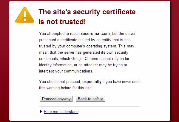 Certificate Error - Jenis-jenis browser error