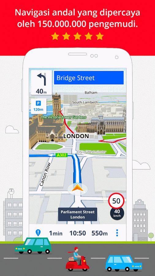GPS Navigation & Maps Sygic - Aplikasi GPS Android Terbaik