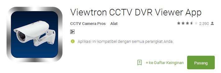 Viewtron CCTV DVR Viewer App - Aplikasi CCTV Android Terbaik dan Populer