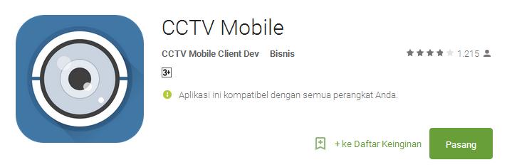 CCTV Mobile - Aplikasi CCTV Android Terbaik dan Populer