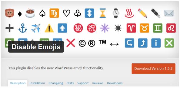 Plugin Untuk Menonaktifkan Emoji Atau Emoticons di Blog WordPress