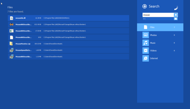 Trik Laptop Windows 8 - Mengambil Keuntungan dari Pencarian