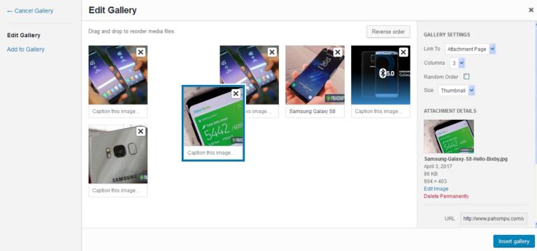 Cara Membuat Galeri Gambar Di WordPress 4