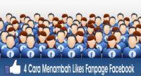 4 Cara Menambah Likes Fanpage Facebook