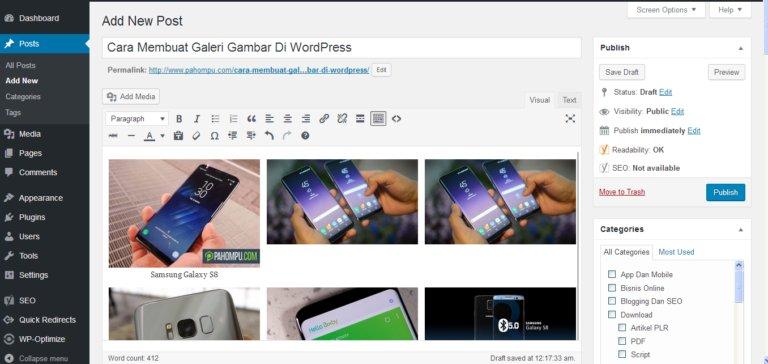 Cara Membuat Galeri Gambar Di WordPress 6