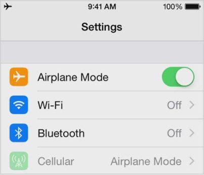 Airplane Mode - 5 Tips Mempercepat Pengsian Baterai iPhone