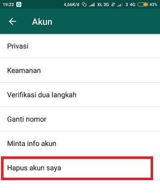 Cara Menghapus Akun Whatsapp Secara Permanen - 3