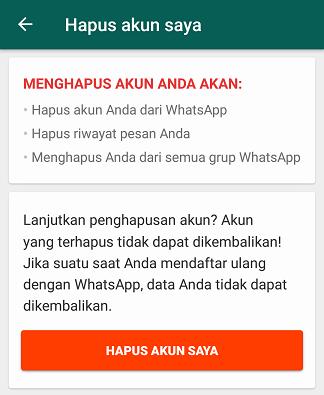 Cara Menghapus Akun Whatsapp Secara Permanen - 5